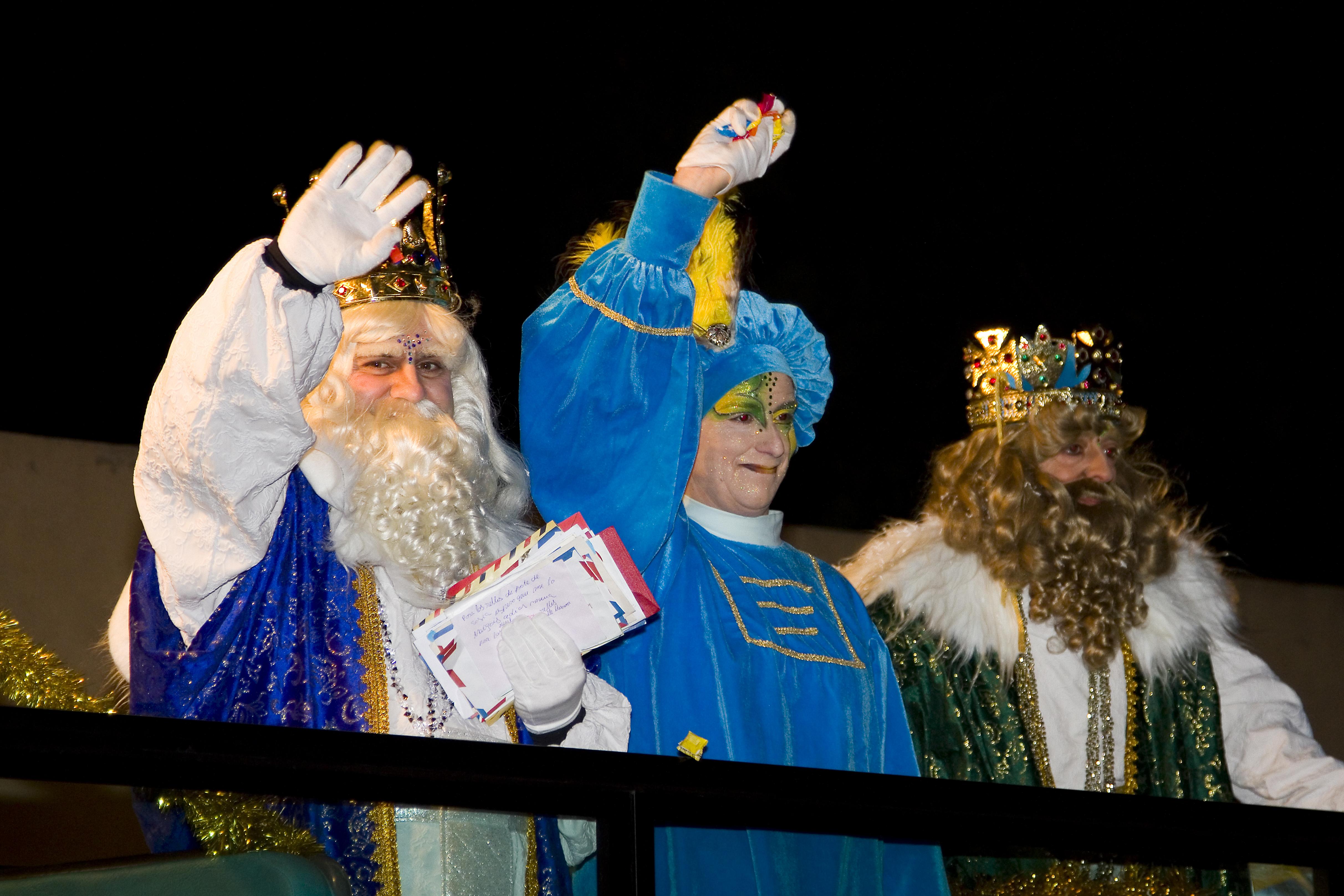 Reyes Magos durante una cabalgata