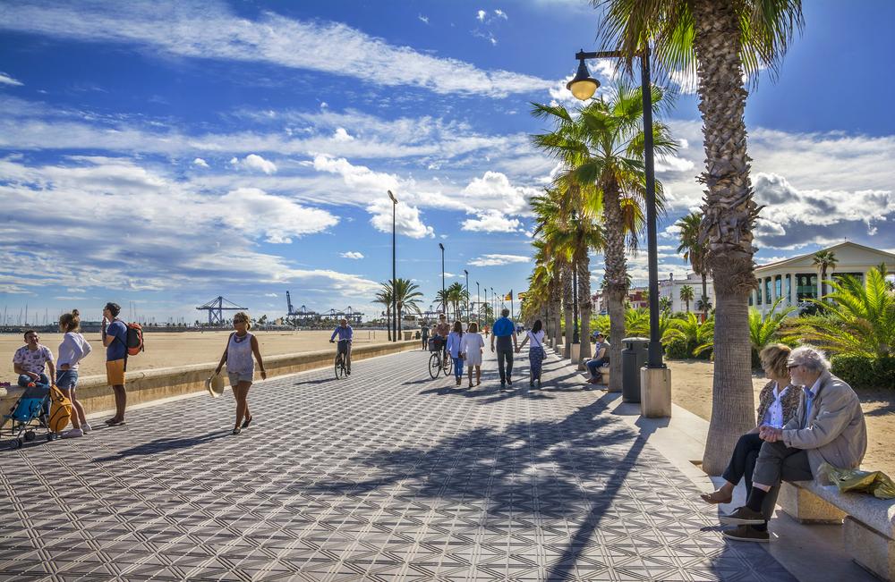 Paseo Playa Valencia